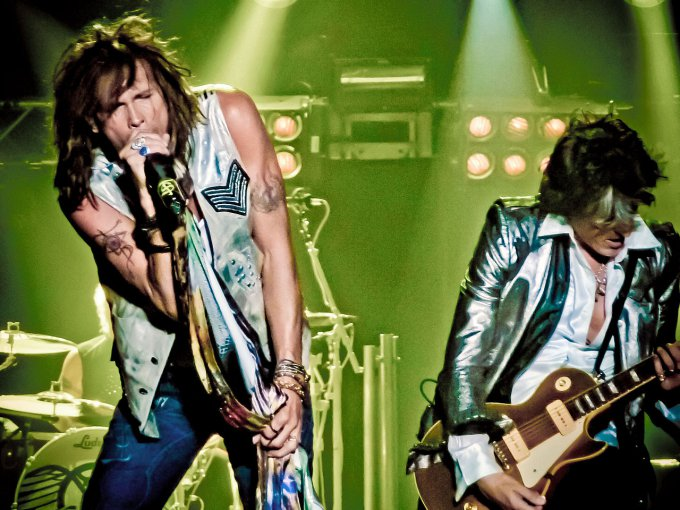 Steven Tyler et Joe Perry du groupe Aerosmith