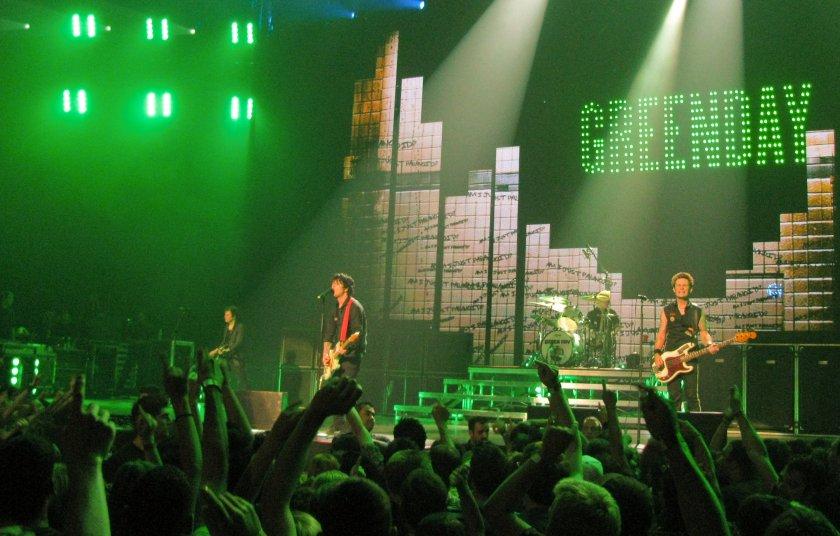 Green Day sur scène