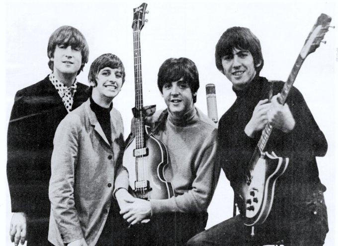 Les membres du groupe The Beatles