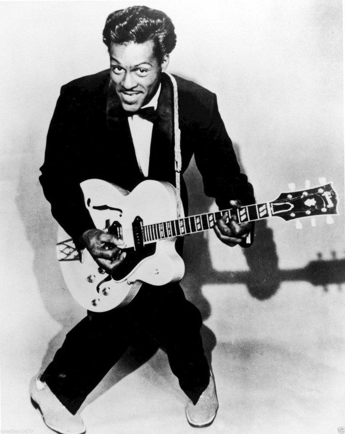 Chuck Berry avec sa Gibson ES 335