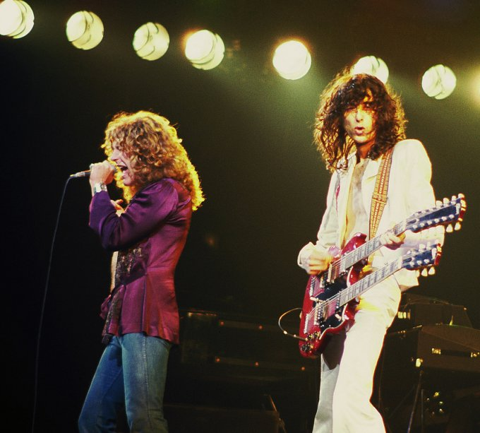 Jimmy Page avec with Robert Plant