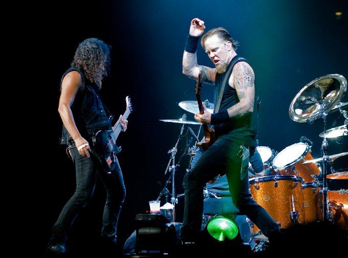 Metallica en concert à Londre en 2008