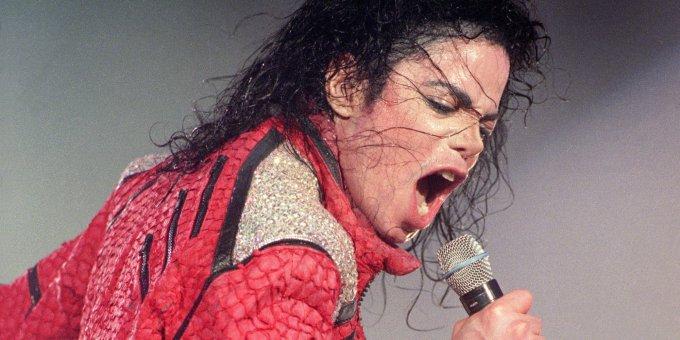 Le roi de la pop en pleine action