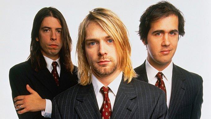 Les membres du groupe Nirvana