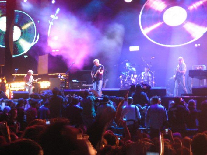 Pink Floyd sur scène à Londre