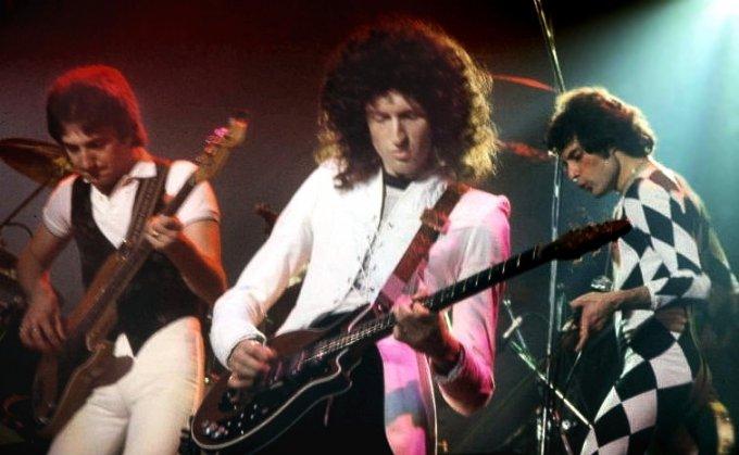 Brian May et ses compagnons en pleine action