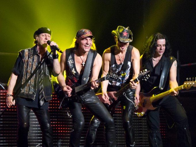 Les Scorpions sur scène