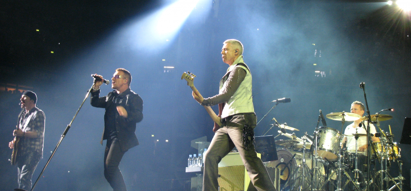 U2 sur scène