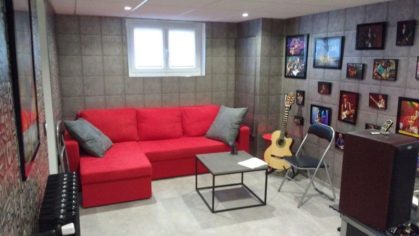 Première vue de ma salle de cours de guitare à Houilles