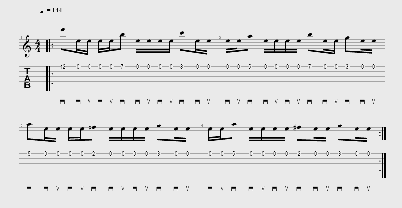 Tablature Iron Maiden - Wested Years Intro