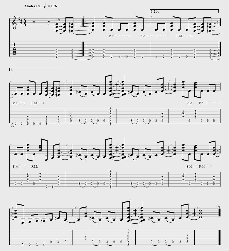 Partition de la chanson Kick Start My Heart du groupe Motley Crue