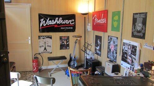 La salle de cours dans le magasin Music Lab de Poissy
