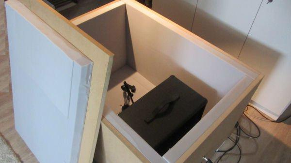 Vue de l'intérieur du caisson